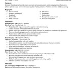 Housekeeping Resume housekeeping resume sample
