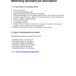 Marketing Assistant Job Description job specification of marketing assistant