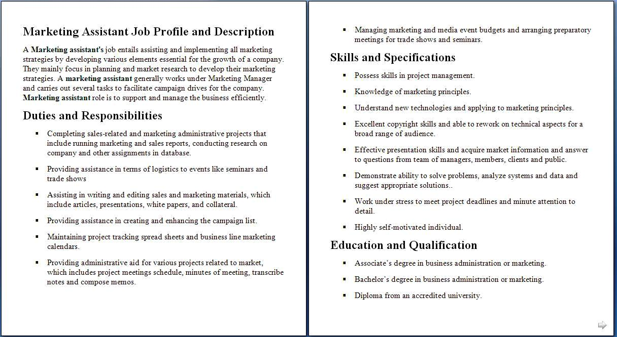 Marketing assistant job description marketing coordinator job marketing assistant job description marketing coordinator job description template cheaphphosting Choice Image