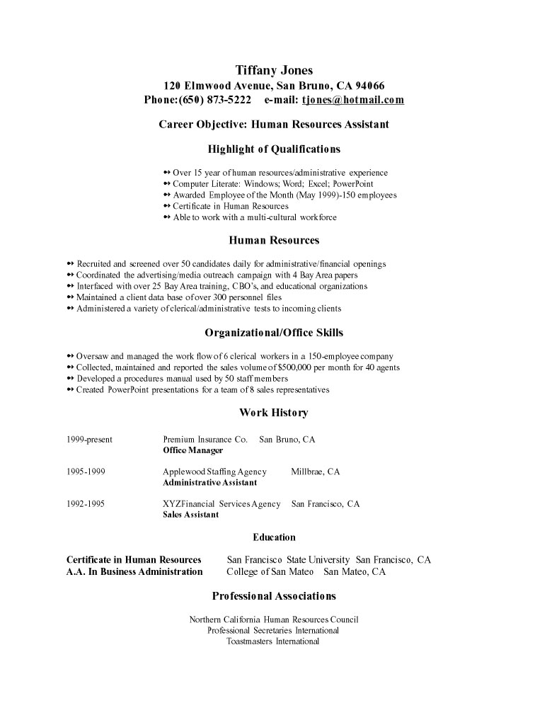 Example Of Objective In Resume | Resume Examples And Free Resume
