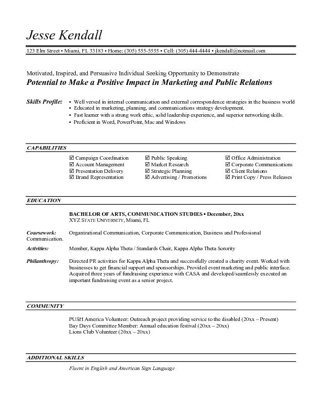 Sales Resume Sample Entry Level skills profile