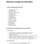 assistant marketing manager job description marketing director job description