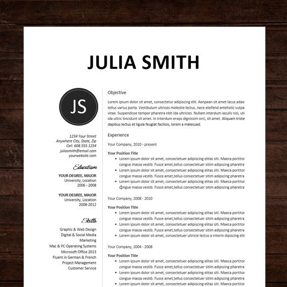 creative resume template resume formats samplebusinessresumecom - Resume Sample With Design