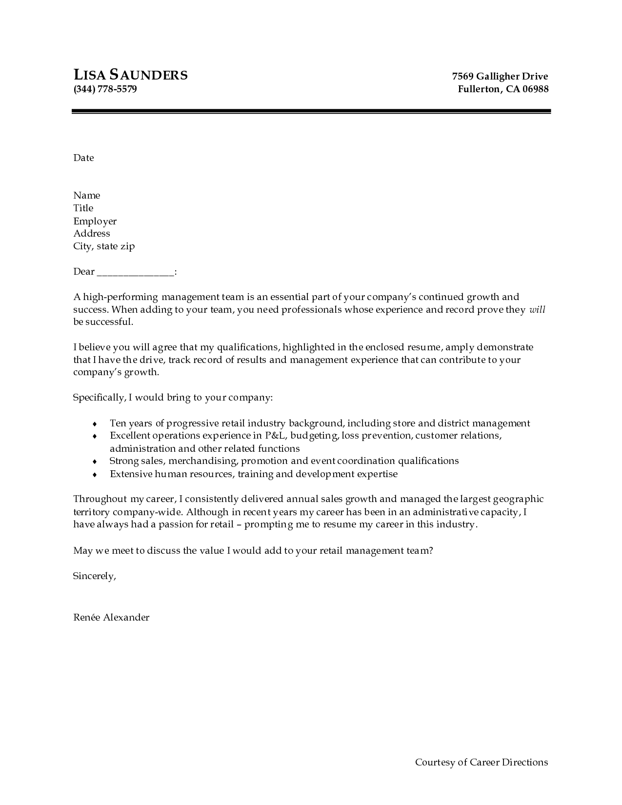 sample free cover letter - Free Cover Letter Template