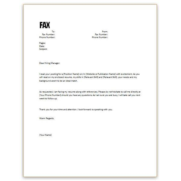 how to write a fax cover letter for resumes Template – How to Format a Fax