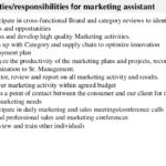 marketing assistant job description Key duties responsibilities for marketing assistant