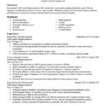 Call Center Representative Resume Sample Social Insurance Specialist Resume