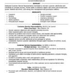 Customer Service Representative Resume Sample summary highlights