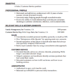 Examples Of Customer Service Resumes relevant skills and accomplisments