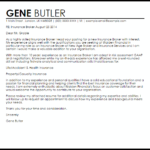 Insurance Broker Cover Letter Sample gene butler