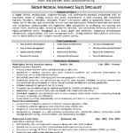 Medical Insurance Specialist Resume Example group medical insurance sales specialist