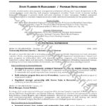 Resume Objective Samples event planning and management program development