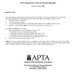 Clinical Site Information Form For APTA Department Of Physical Therapy With Introduction