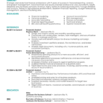 Create Resume best financial analyst resume example contemporary