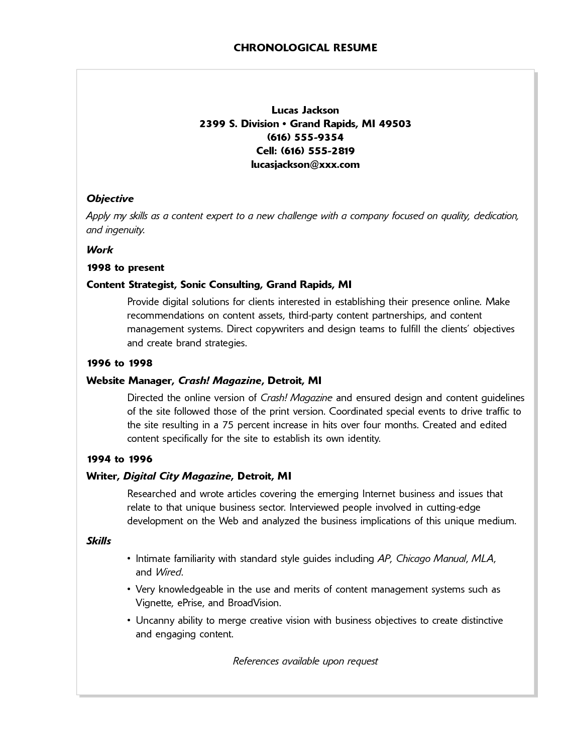 Exle Resume Of Computer Science Student Major Exles