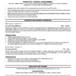 Good Resume Examples Best Template Collection inventory control management