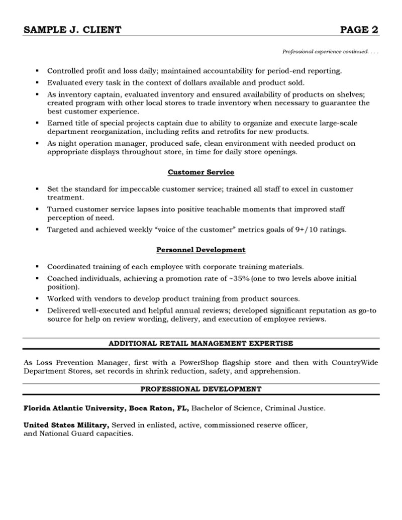 Employee Training Manager Resume