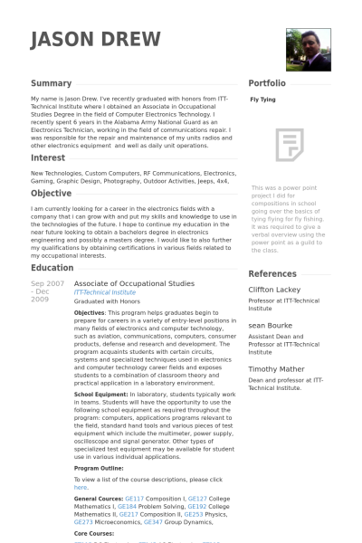 Attractive Resume Package Examples