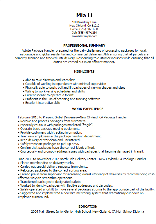 Cover Letter For Fedex Position