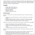Resume Templates Personal Injury Legal Assistan summary highlights