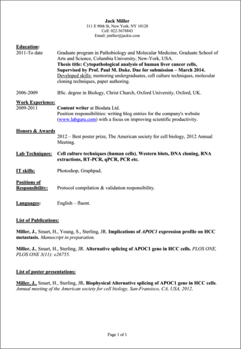 sample computer science intern resume sample computer - Computer Science Resume Sample