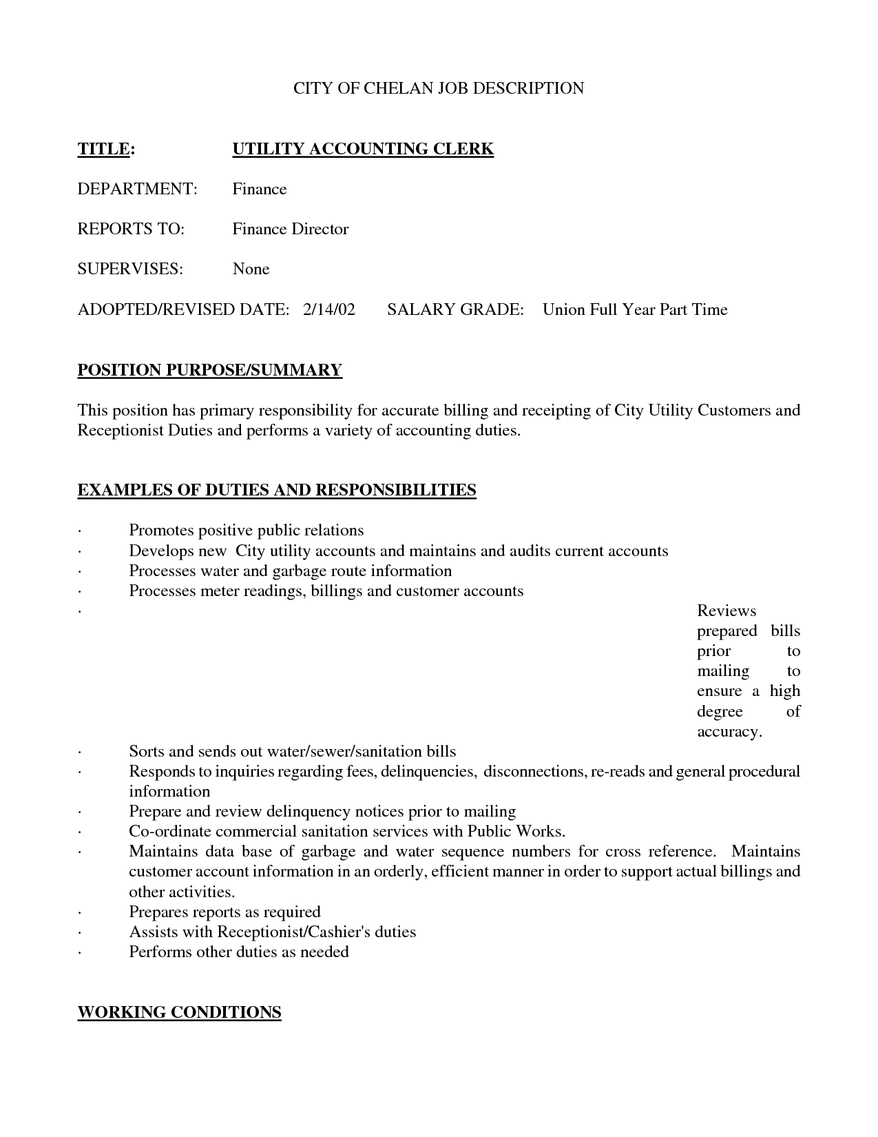 Sample Resume Gallery Of Title accounting Clerk job Resume