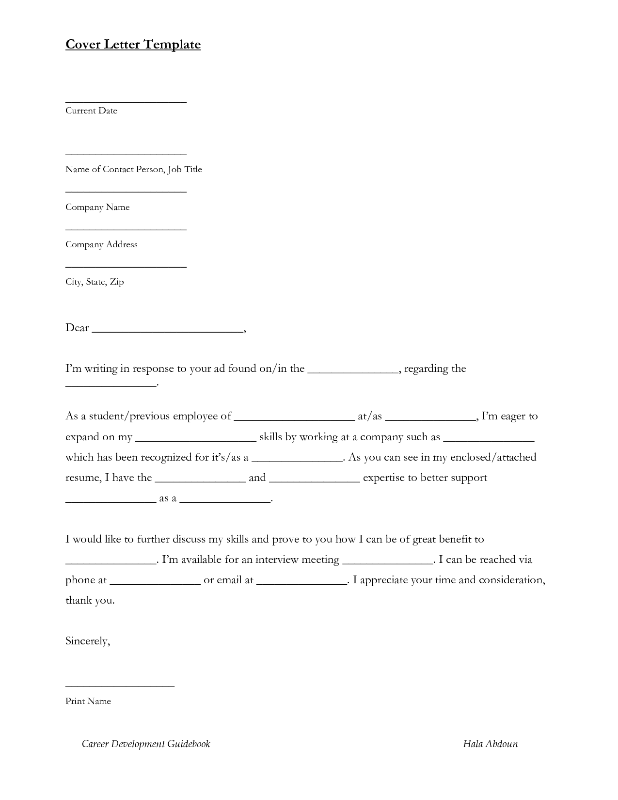 sample email format for job application