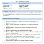 accounting clerk job title and possition overview
