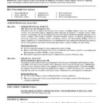 financial analyst resume example technical skills