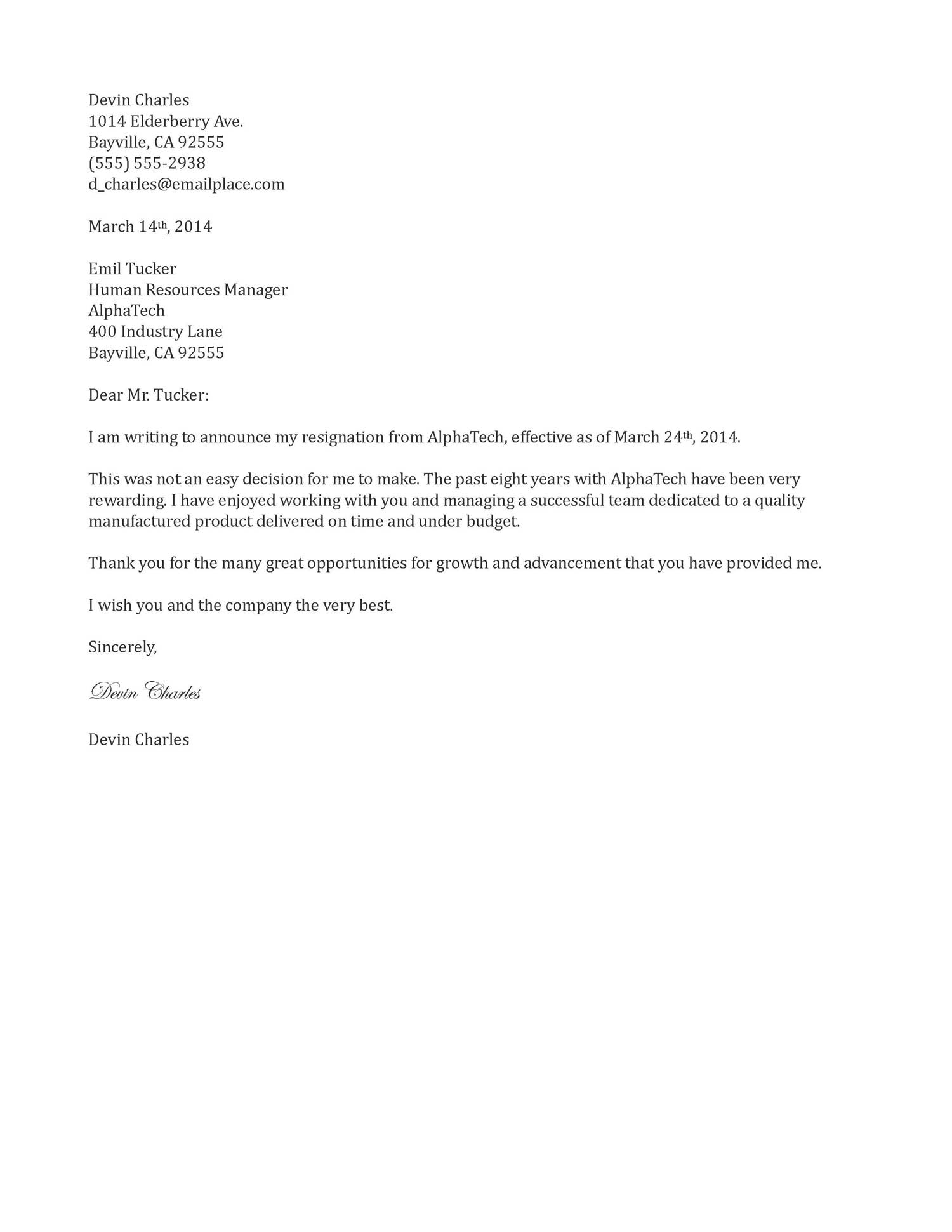 Resignation Letter Sample 2 Weeks Notice Under Fontanacountryinn Com