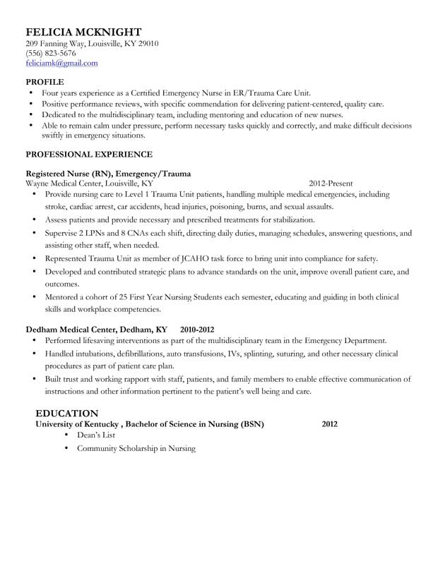 Registered Sample Nurse Resume Samples Mid Level Nurse Resume Sample