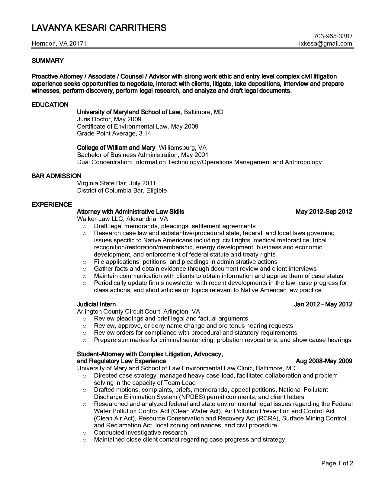 personal injury attorney resume samples