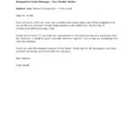 sample resignation letter two weeks notice