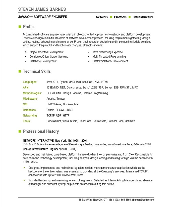software developer sample resume - Software Developer Resume
