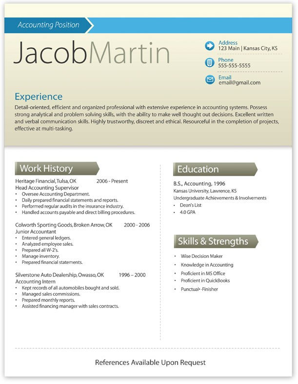 Word Cover Letter Template Experience Jacob Martin  Free Resume And Cover Letter Templates