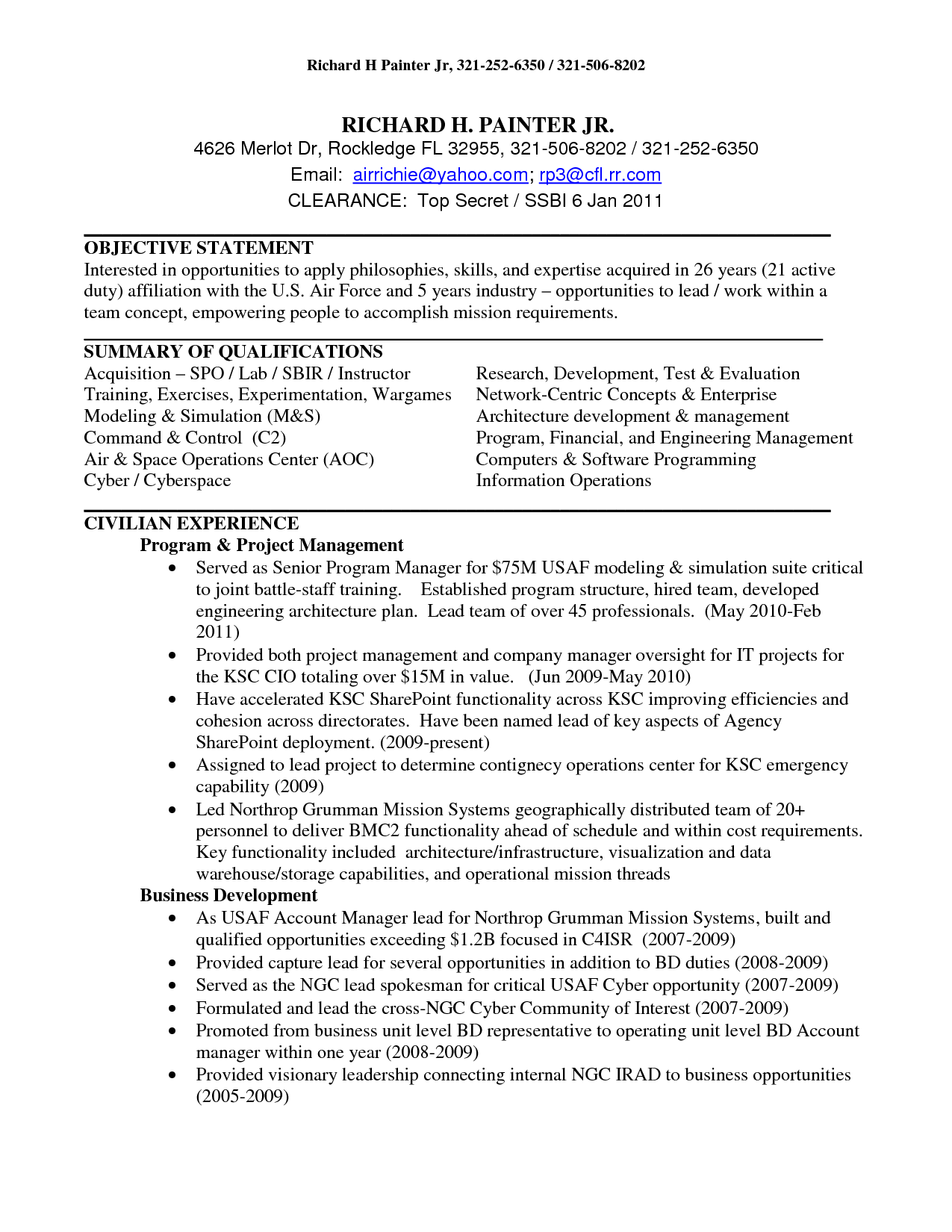 Resume Templates  Aircraft Mechanic Resume