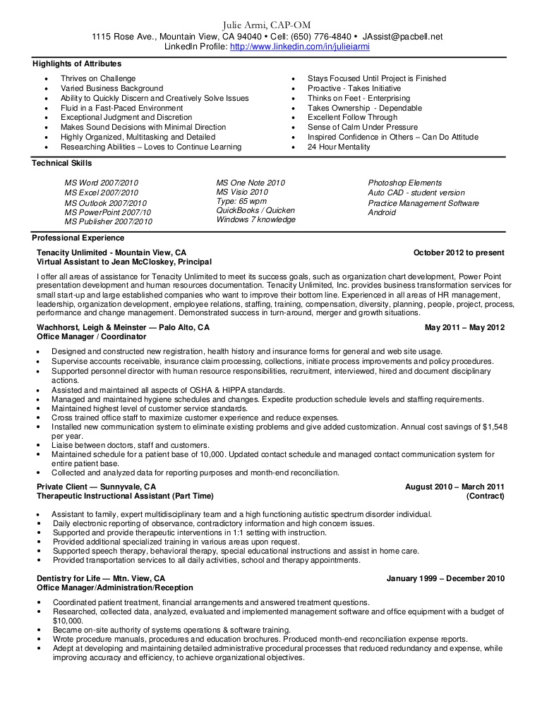 Resume Templates Patient Care Assistant Highlights Technicial Skills  Office Coordinator Resume