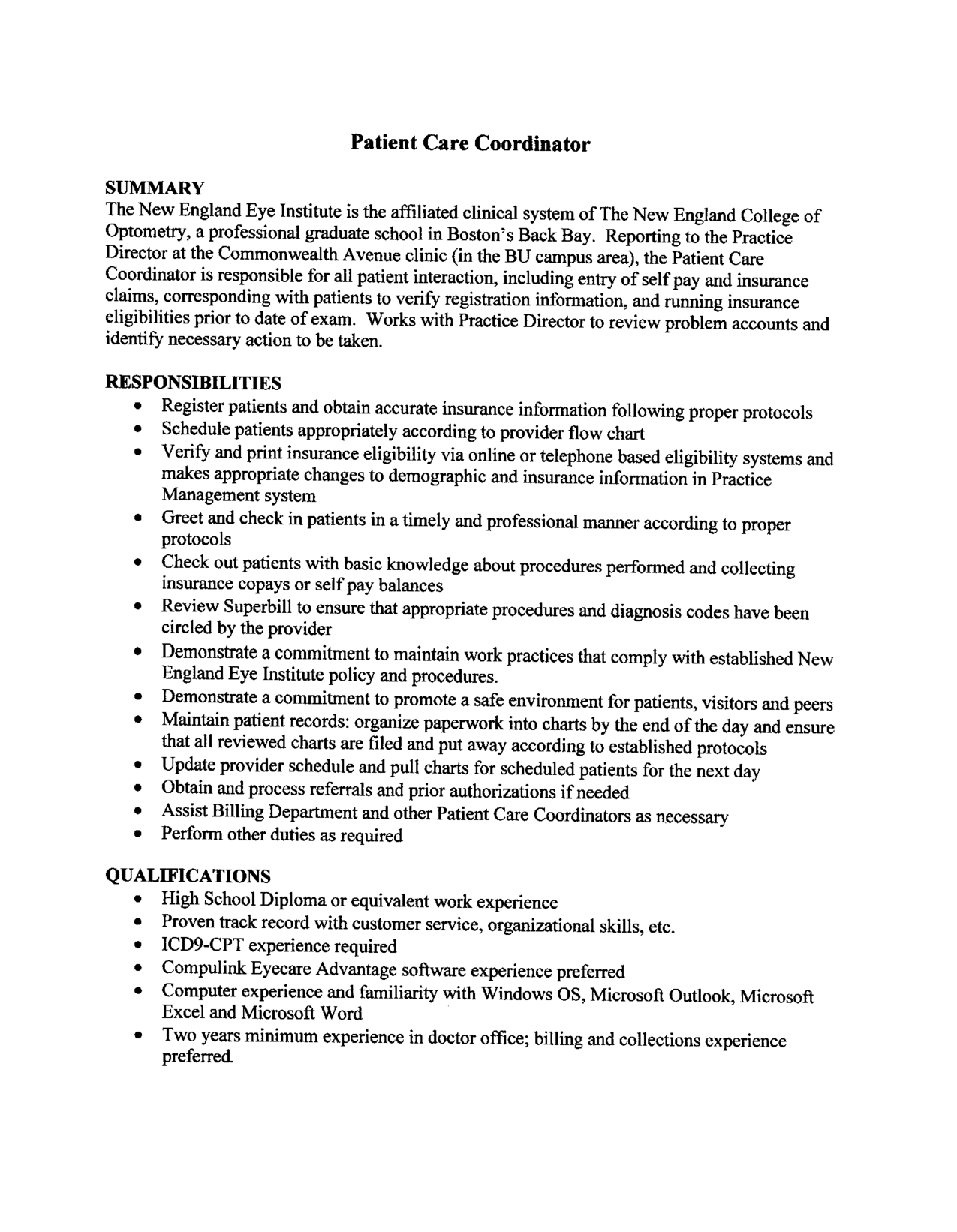 sample resume patient care technician resume sle exle
