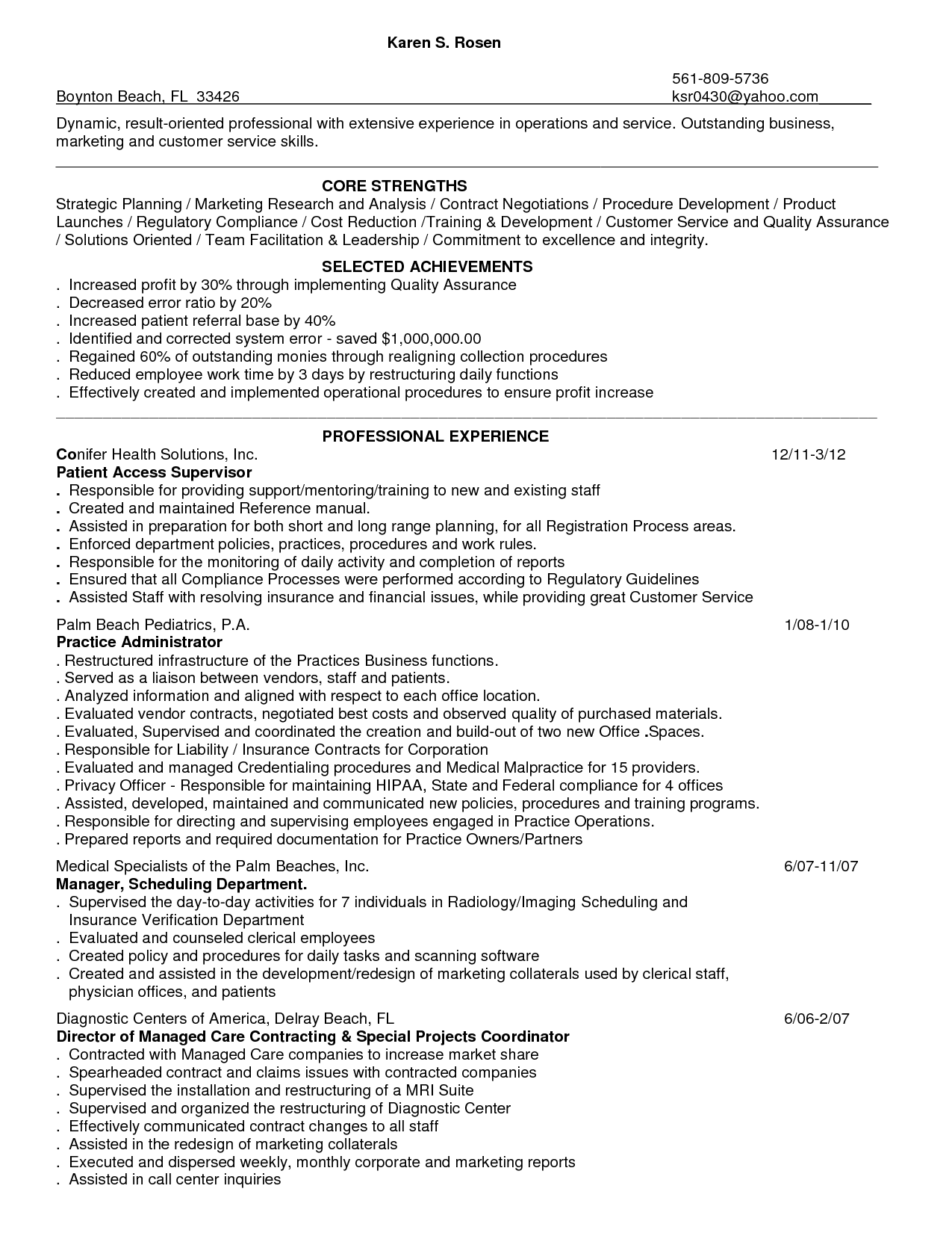 account representative resumes | Template