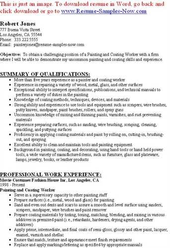 Best Format House Painter Resume
