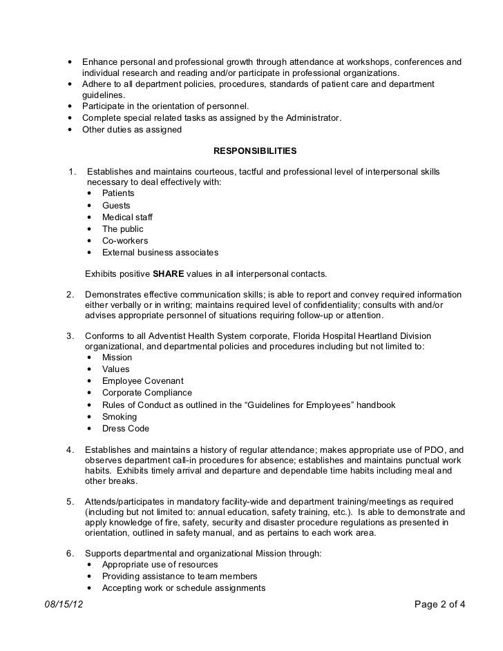 patient care coordinator job description responsibilities