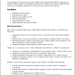 patient-care-coordinator-resume-within-clinical-summary-highlights