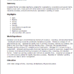 resume templates industrial painter summary highlights