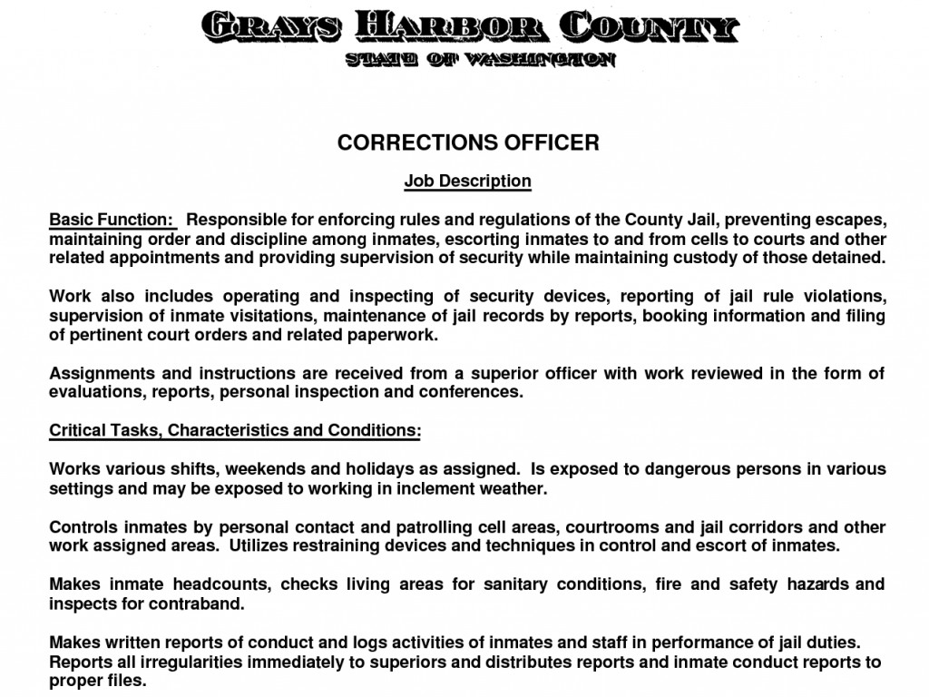 Cover Letter for Correctional Officer Cover Letter for Correctional Ficer