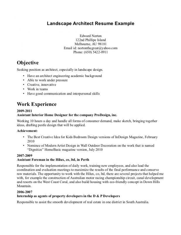 Job Description For Correctional Officer Resume Professional Architecture Sample Objective