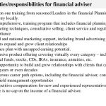 key duties responsibilities for financial adviser job description