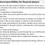 key duties responsibilities for financial planner job description