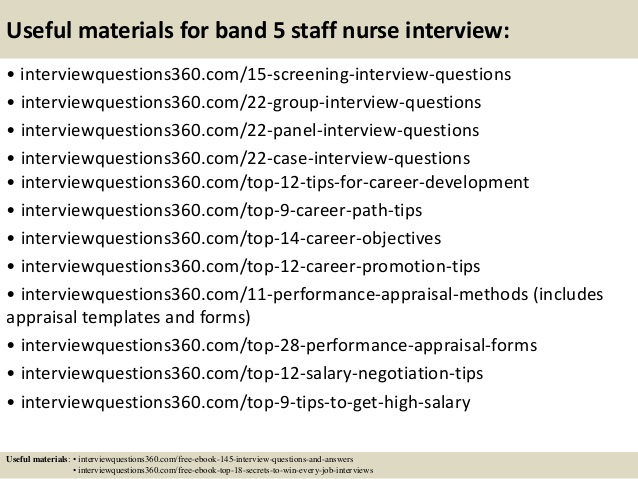 top 10 band 5 staff nurse interview questions and answers - Nursing Interview Questions And Answers