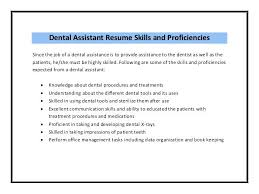 Dental Assistant Resume Job Description Sample