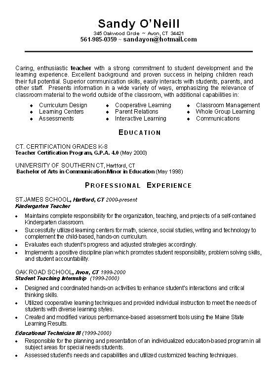 science teacher resume examples view page two of this science